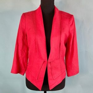 White House Black Market Red Blazer Jacket sz 6